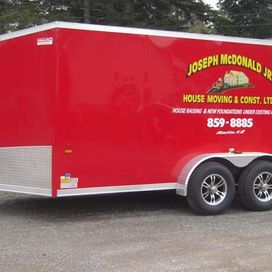 red service trailer